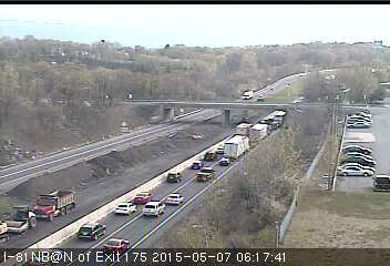 Updated traffic report: I-81 north closed due to tractor