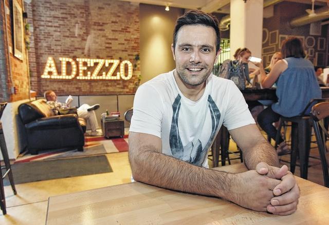 Mladen Jecmenica fellow team member at Adezzo Coffee Shop & Lounge in center city Scranton.
