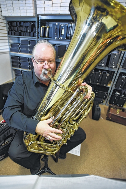 Raymond Stedenfeld will bring his tuba to the Sunday at the Circle concert when Brass Reflections performs at the Wyoming Valley Art League building in Wilkes-Barre.