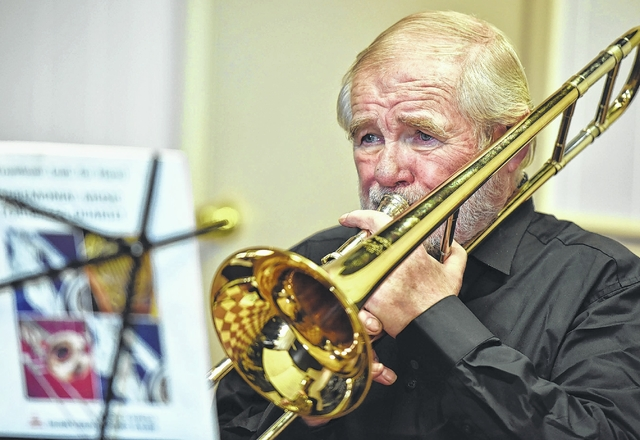 Cliff Girard, of Clarks Summi,t is one of two trombone players set to play with the Brass Reflections on Dec. 27.