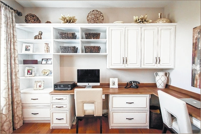 An Office Designed And Built By Creative Closets.   Submitted Photos