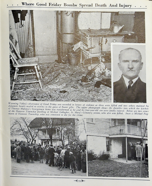 This account of the Good Friday Bombings from an archived Times Leader issue can be found in the Luzerne County Historical Society collection.