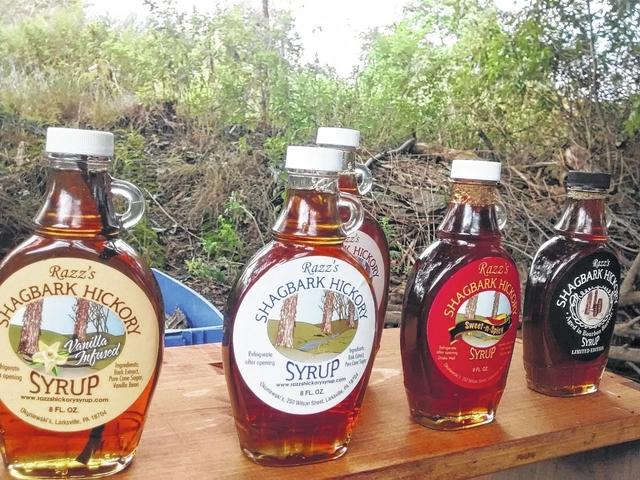 larksville residents makes razz s shagbark hickory syrup a family