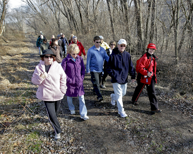 There are several opportunities this weekend to take part in an organized hiking event, similar to one these hikers enjoyed with the Susquehanna Trailers Hiking Club during a previous January.