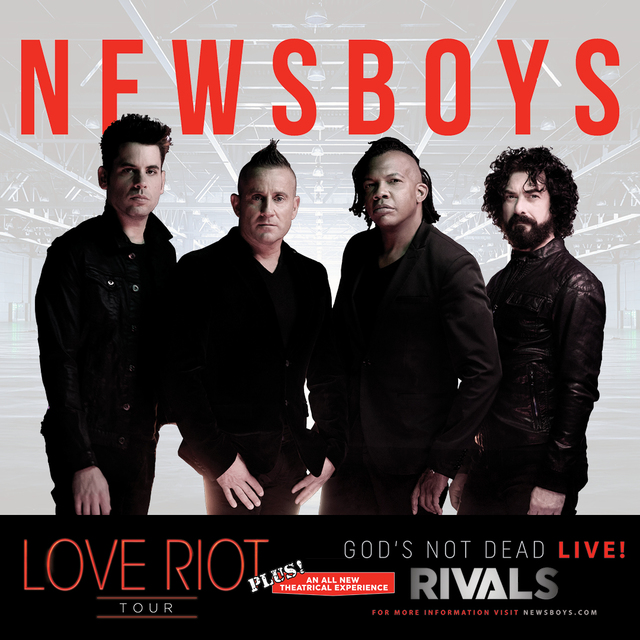 Christian rock band Newsboys brings its new theatrical live show to the Mohegan Sun Arena Feb. 18.