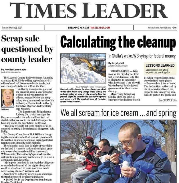times leader wilkes barre pennsylvania