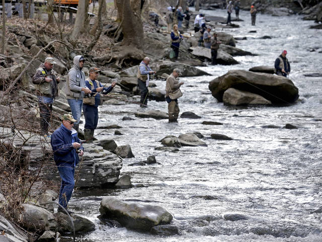 Anglers flock to area lakes and streams for opening day of trout season