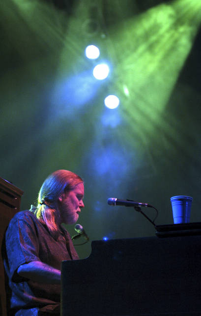 In this Saturday, Sept. 17, 2005, file photo, Gregg Allman of the Allman Brothers Band performs at the Mid-America Center in Council Bluffs, Iowa, as part of their Antigone Rising Tour.