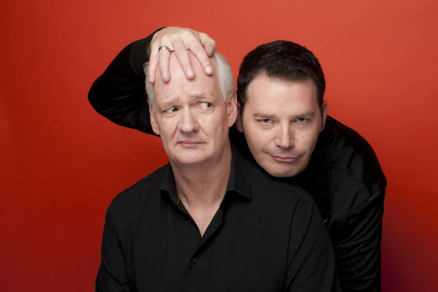 Colin Mochrie, left, said he and Brad Sherwood have the most fun when they've managed to make themselves as uncomfortable as possible.