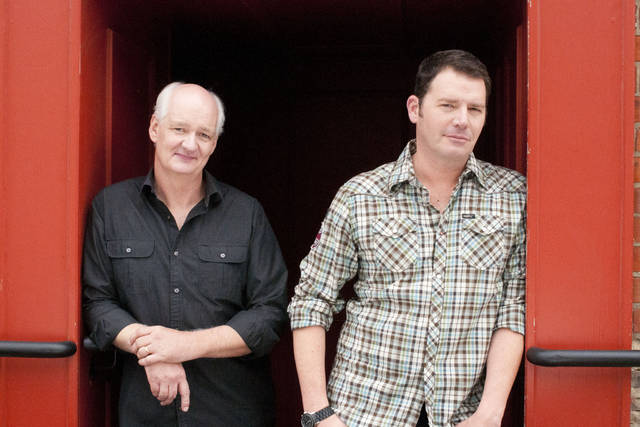 Colin Mochrie, left, and Brad Sherwood have toured together for 15 years and will bring their two-man improv comedy show, An Evening with Colin and Brad, to the F.M. Kirby Center in Wilkes-Barre.