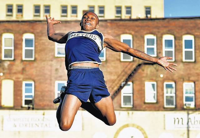 Meyers senior Je'Vondrea McClair won a state silver medal in long jump while helping Meyers to a second straight WVC title during an unbeaten regular season.