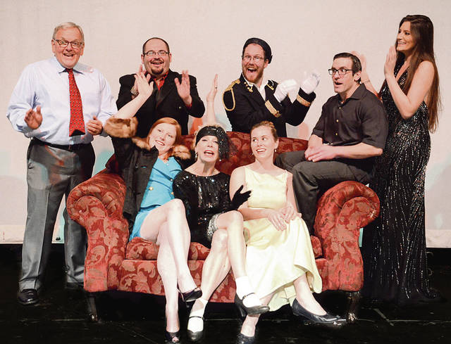 The cast of 'Lend Me A Tenor' includes, seated: Deirdre Lynch, Carol Sweeney and Caitlin Harty. Standing: Jim Pall, Dave Fortin, John Beppler, Dave Giordano and Breana Schall.