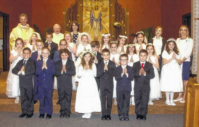 First Holy Communion held at St  Therese's Church in