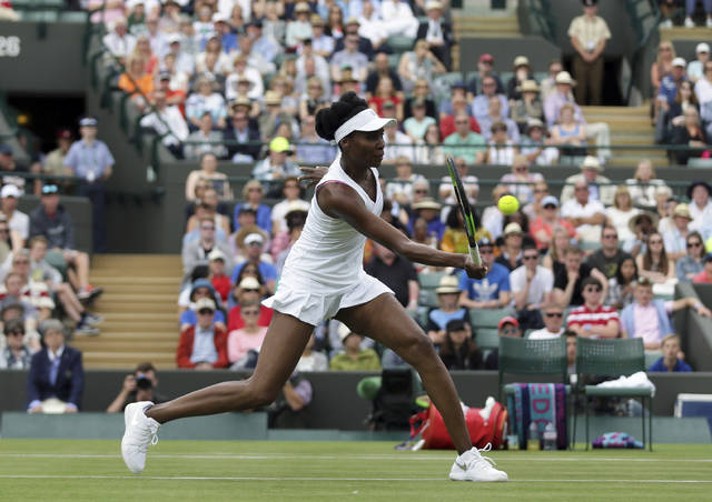 Venus Williams played her first match since being involved in a fatal car accident on Monday on the opening day of Wimbledon.