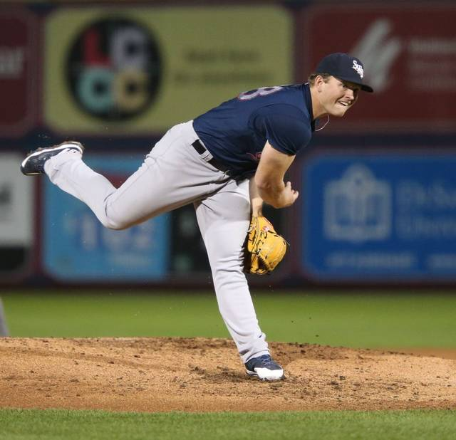RailRiders starter Chance Adams made it through a tough third inning with his team still in the lead.