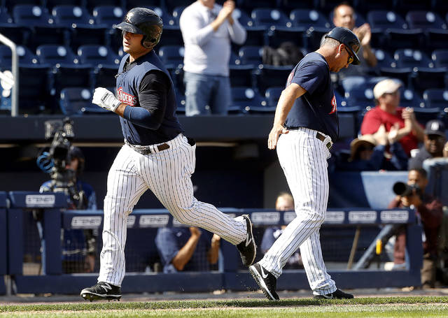 Scranton/Wilkes-Barre RailRiders first baseman Mike Ford hit a solo home run in the seventh inning in Game 4 of the Governors' Cup first round Sunday at PNC Field.