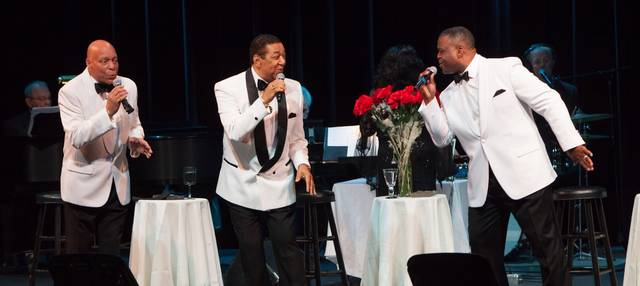 The Flamingos featuring Terry Johnson, center, will perform as part of the four-act Doo Wop Celebration Saturday at the F.M. Kirby Center in Wilkes-Barre.