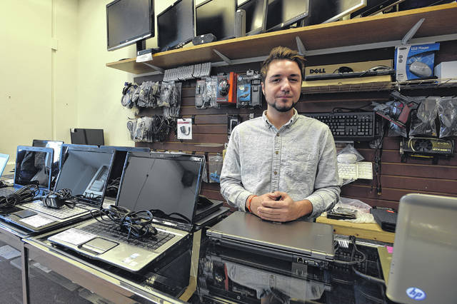 Chris Piccolotti, owner of Center City Repairs in Wilkes-Barre, is a Meyers High School alum who now lives in Forty Fort. (Aimee Dilger | Times Leader)