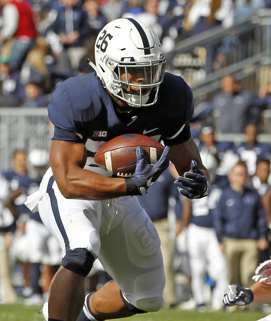 Saquon Barkley has found ways to contribute even when bottled up in the running game, returing a kickoff for a touchdown last week against Indiana.