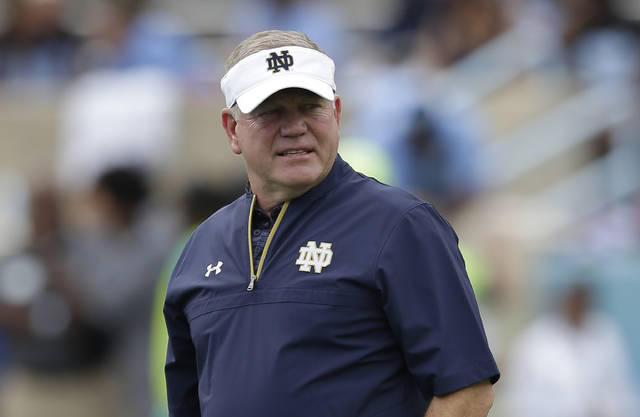 Notre Dame head coach Brian Kelly has to be feeling a bit divided as the Notre Dame head coach prepares the Fighting Irish for their Citrus Bowl clash with LSU.