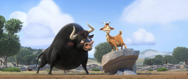 Animated film 'Ferdinand' is adapted from the popular children's book about a large but gentle bull.