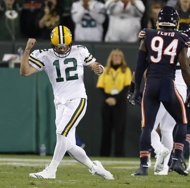 Green Bay Packers coach Mike McCarthy says quarterback Aaron Rodgers, left, is getting ready to play against the Carolina Panthers this weekend. Rodgers missed the last seven games after breaking his right collarbone in Week 6 at Minnesota. The two-time NFL MVP is eligible to be activated on Friday, eight weeks after initially going on injured reserve.