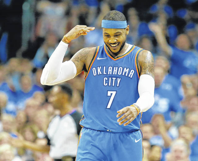 Oklahoma City Thunder forward Carmelo Anthony is returning to New York to face a Knicks team on the rise. Kristaps Porzingis has led the Knicks to a 15-13 start, while Anthony's Thunder are struggling.