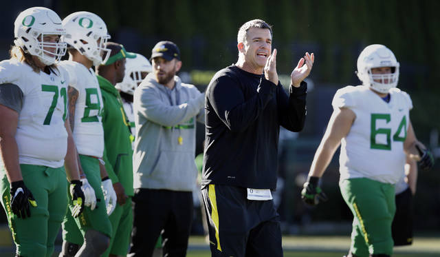 Mario Cristobal will lead the Ducks for the first time as head coach when Oregon plays No. 25 Boise State in the Las Vegas Bowl. Cristobal was hired three days after Willie Taggart left to become the head coach at Florida State. Cristobal now wants to repay the players' belief in him.