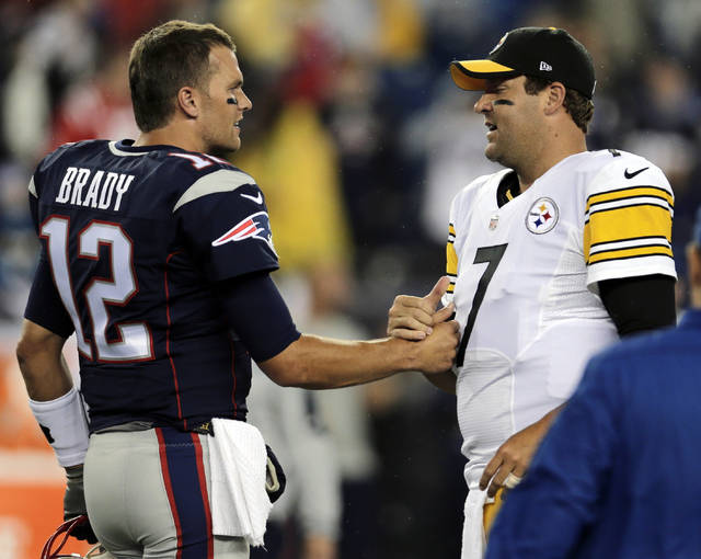 So while Sunday's contest at Heinz Field will almost certainly decide the top seed in the AFC, it's not exactly Ali-Frazier, two undefeated heavyweights facing off, even with Tom Brady and Ben Roethlisberger on hand.