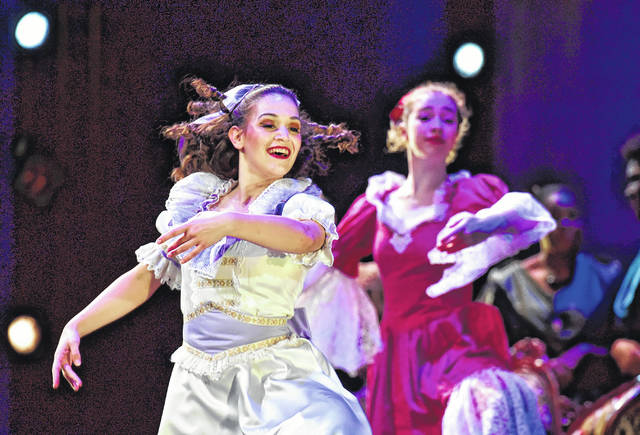 Sarah Hoffman, a Wilkes University junior, portrays Klara, the girl who receives the gift of a nutcracker from her mysterious Uncle Drosselmeier. Hoffman told a reporter after the show her first Nutcracker role took place in York County, where she had the small role of 'the Crown Jewel Child.'