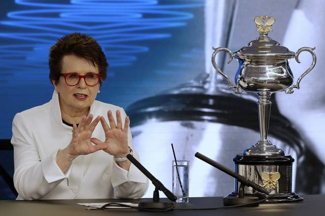 Billie Jean King is in Melbourne to celebrate the 50th anniversary of her Australian Open victory.