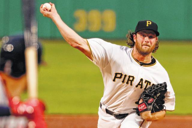 The Astros have traded for pitcher Gerrit Cole. Photo: Gene J. Puskar/