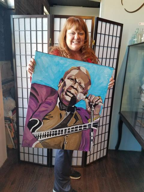 Catrina King will be among the local artists who will display their work at the 'Blues in Art and Music' exhibit Jan. 14 at the Dietrich Theater in Tunkhannock.