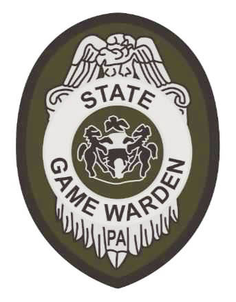 """A rendering of the new patch that will be worn by the Game Commission's officers reflecting the new """"game warden"""" title."""