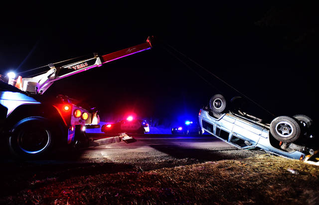 Jeep flips in Hanover Twp  accident   Times Leader