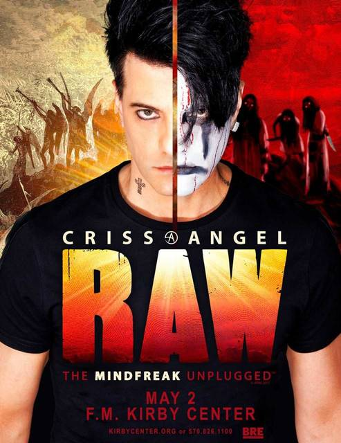 Criss Angel's Raw — The Mindfreak unplugged features sleight-of-hand street magic, mentalism, and some of the magician's most iconic illusions to the stage.