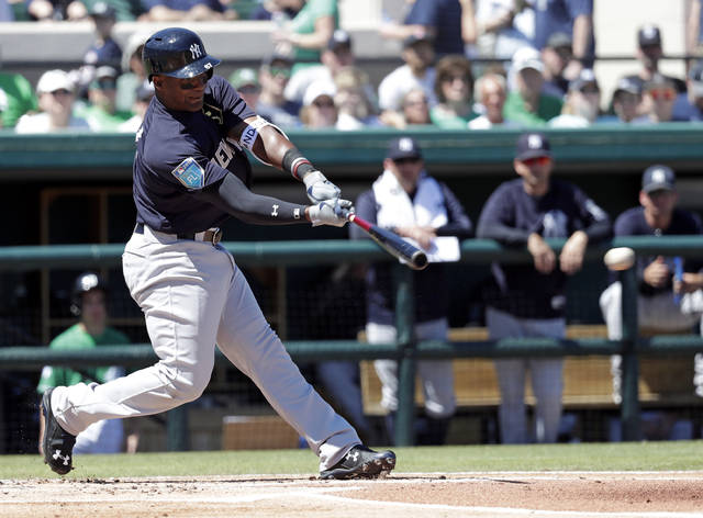 The New York Yankees optioned third baseman Miguel Andujar to the Scranton/Wilkes-Barre RailRiders prior to Sunday's game against the Miami Marlins.