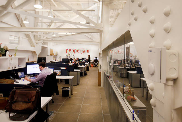 Pepperjam's Wilkes-Barre headquarters are seen in a file photo. The tech company is laying off 20 percent of its staff, a representative said Tuesday.