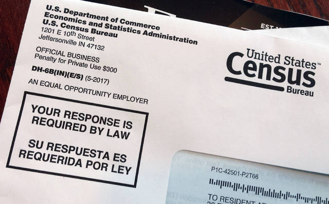 This March 23, 2018, photo shows an envelope containing a 2018 census test letter mailed to a resident in Providence, R.I. The nation's only test run of the 2020 Census is in Rhode Island, and it's drawing concerns from community leaders, good government groups and others about how it's being run. (AP Photo/Michelle R. Smith)