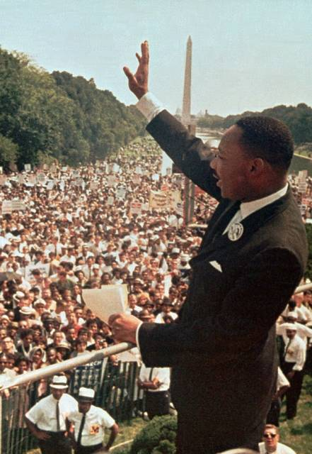 """On April 16, 1963, Martin Luther King Jr. wrote his """"Letter from Birmingham Jail"""" in which the civil rights activist responded to a group of local clergymen who had criticized him for leading street protests; King defended his tactics, writing, """"Injustice anywhere is a threat to justice everywhere."""""""