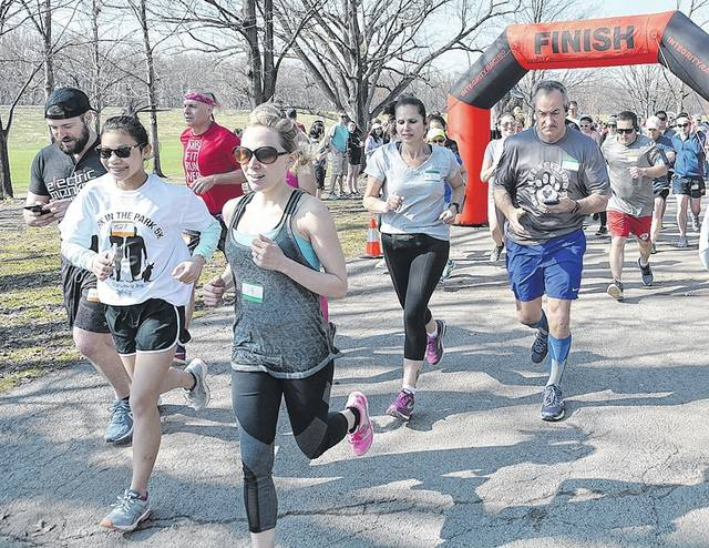 The Bark in the Park 5K race, which started 10 a.m. Saturday at Kirby Park, was organized by Junior Leadership Wilkes-Barre to benefit the local SPCA.