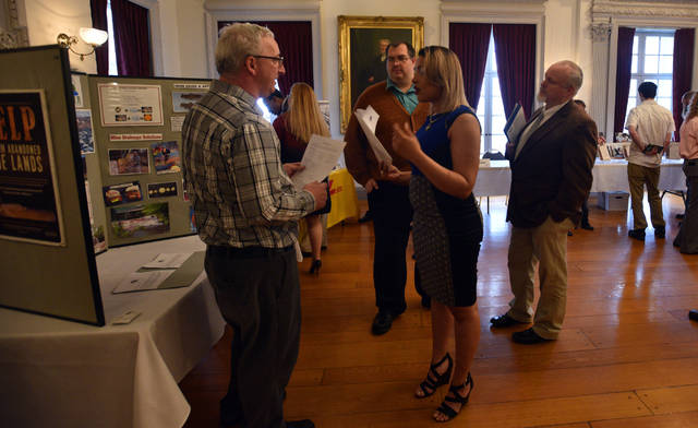 Graduates of the Earth Conservancy's Environmental Workforce Training program at Penn State Wilkes-Barre in Lehman Township were given the chance to talk with prospective employers and learn about available jobs and internships on Monday.