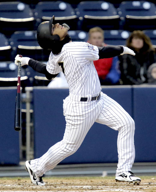 Scranton/Wilkes-Barre RailRiders infielder Gleyber Torres is sporting a .XXX batting average heading into Saturday's game against Charlotte.