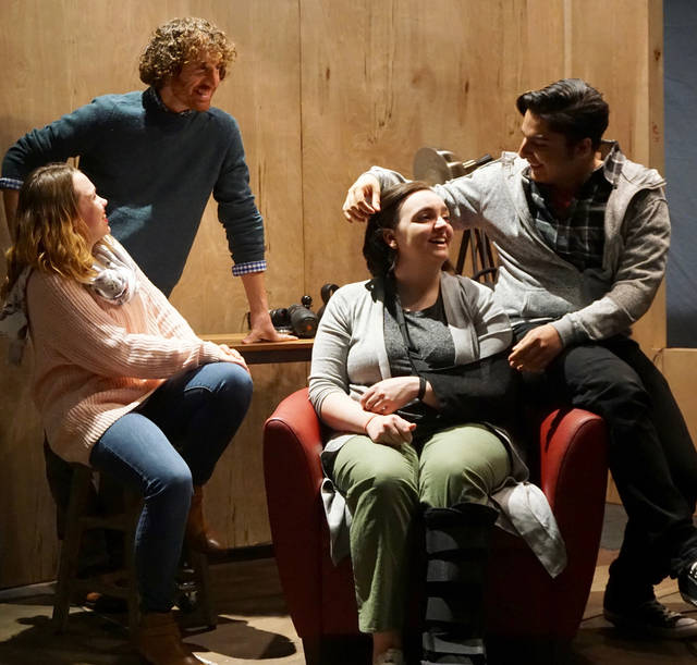 The King's College Theatre Department will present 'Times Stands Still' on April 12 through 14 and 19 through 21 at the George P. Maffei Theatre on the King's campus.