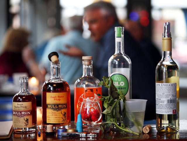 A bourbon and wine tasting was held at Senunas' Bar & Grill in Wilkes-Barre on Sunday to raise funds for Breathe Deep NEPA.