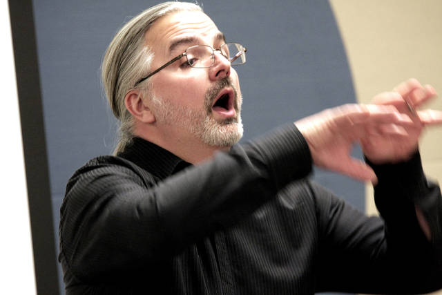 """Conductor Matthew Rupcich expects audience members will have emotional reactions to 'Holocaust Cantata: Songs from the Camps,"""" just as he and his singers do."""