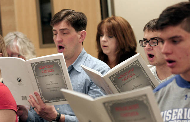 Members of the Community Choir at Misericordia University said they are presenting the 'Holocaust Cantata' as a tribute to the prisoners whose words have been translated into musical pieces.
