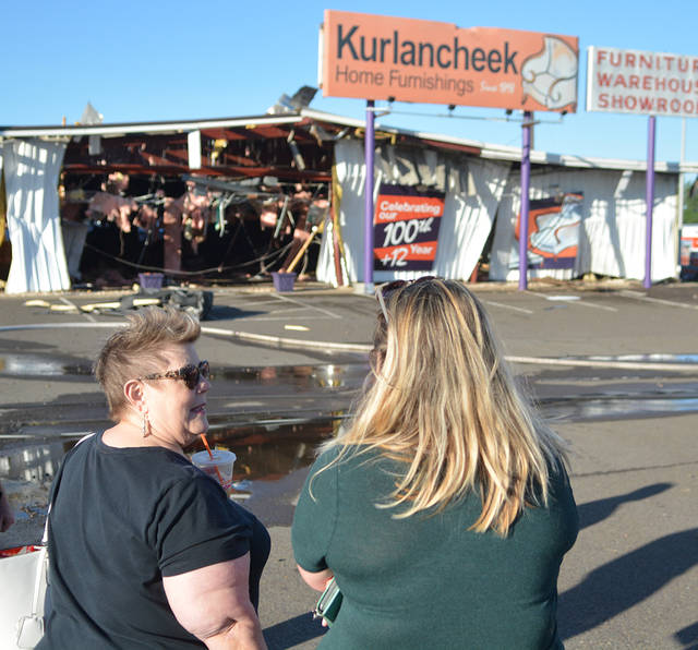 Kurlancheek Home Furnishings Owner Ronne Left And Operations Manager Ashley Ash Look Over
