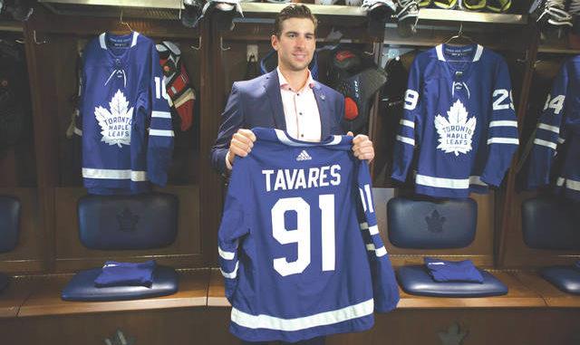 new style 7c1d2 fc125 Homeward bound: Star center John Tavares chooses Maple Leafs ...