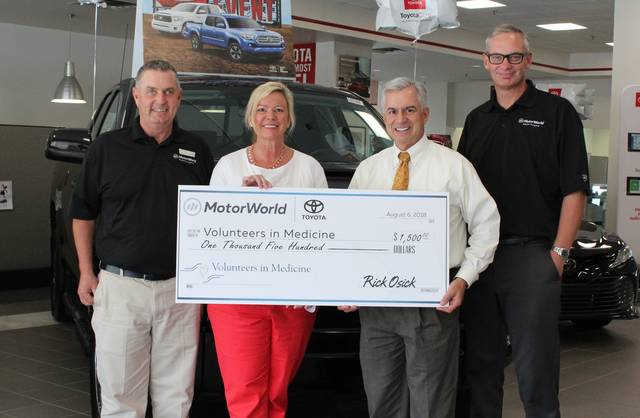 Motorworld Toyota Supports Volunteers In Medicine Times Leader
